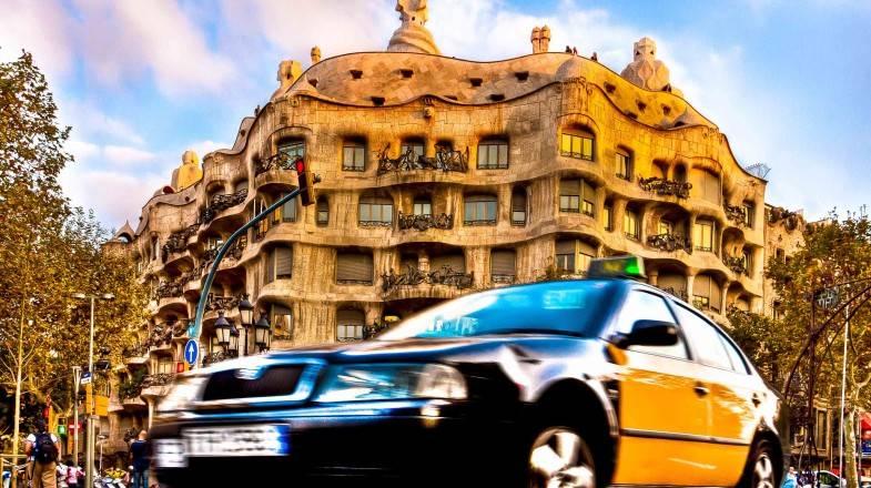color de los taxis en Barcelona